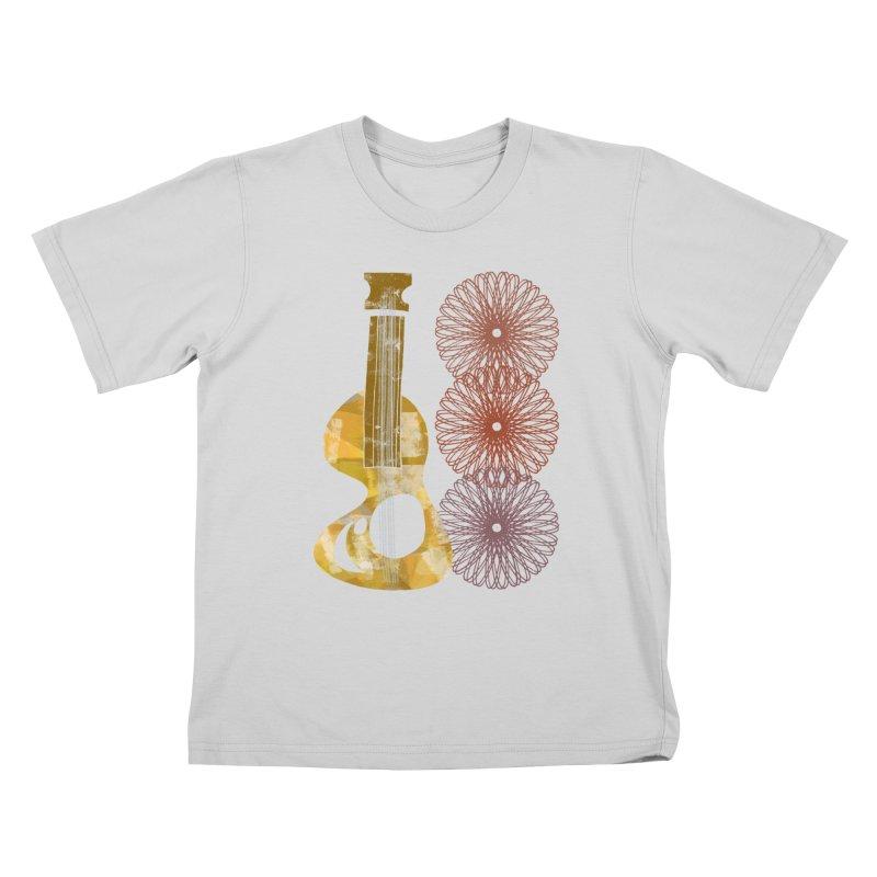 Guitar and a Spirograph Kids T-Shirt by Eyeball Girl Creative