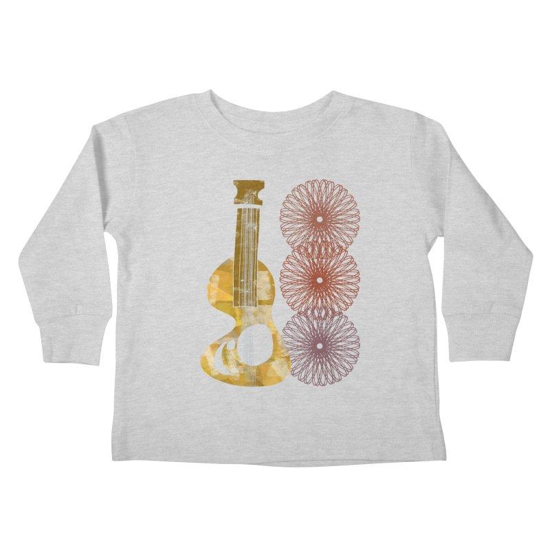 Guitar and a Spirograph Kids Toddler Longsleeve T-Shirt by Eyeball Girl Creative