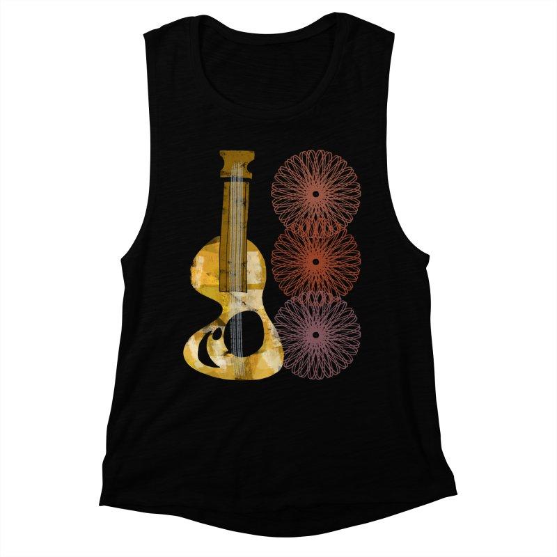 Guitar and a Spirograph Women's Muscle Tank by Eyeball Girl Creative