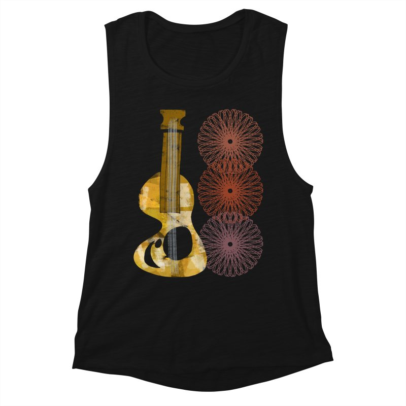 Guitar and a Spirograph Women's Tank by Eyeball Girl Creative