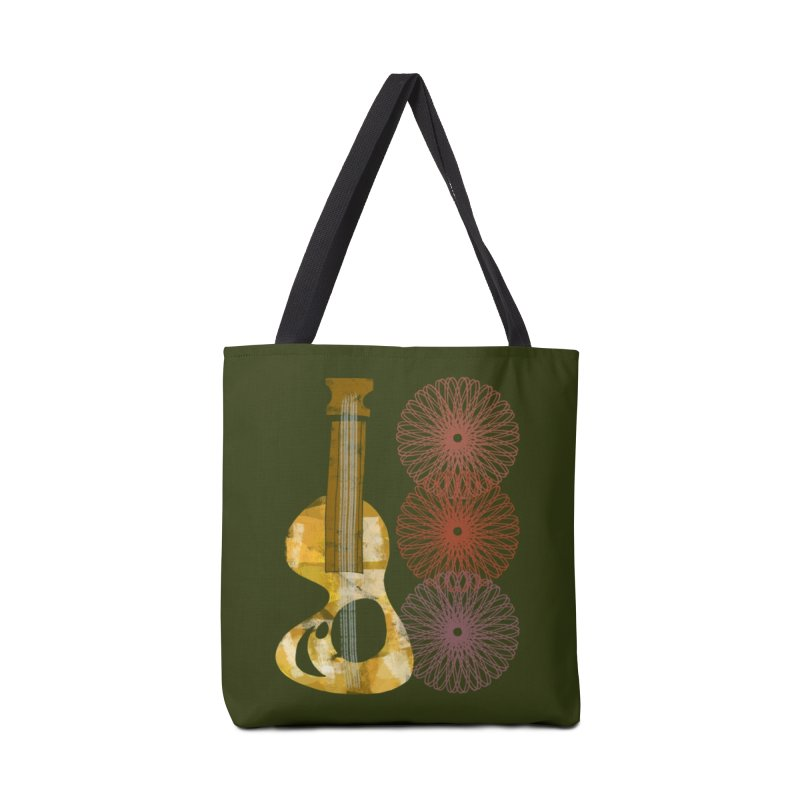 Guitar and a Spirograph Accessories Tote Bag Bag by Eyeball Girl Creative
