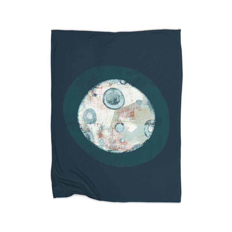 Blue Moon Home Blanket by Eyeball Girl Creative