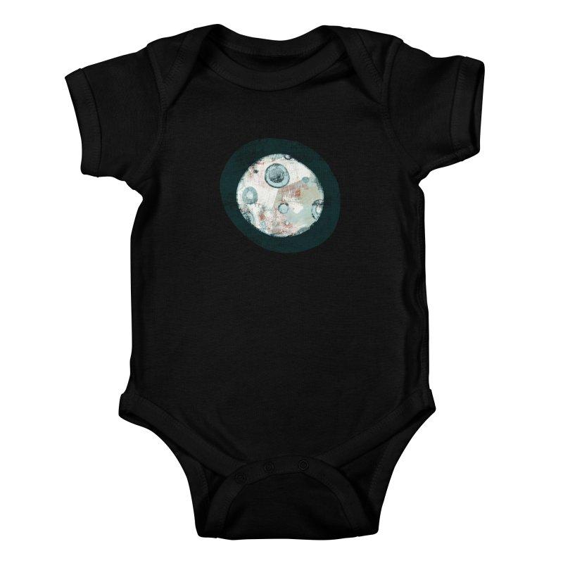 Blue Moon Kids Baby Bodysuit by Eyeball Girl Creative
