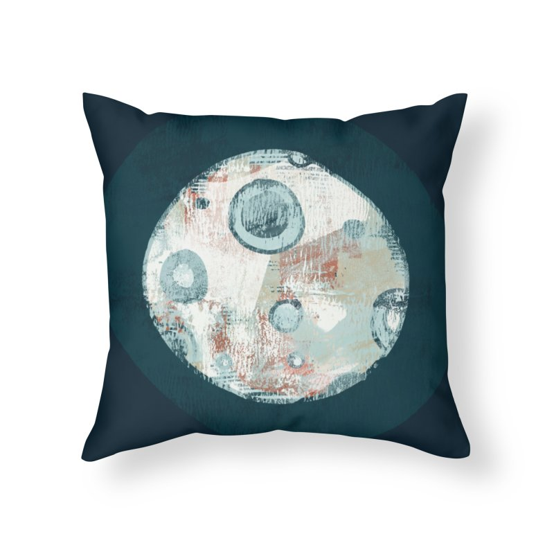 Blue Moon Home Throw Pillow by Eyeball Girl Creative