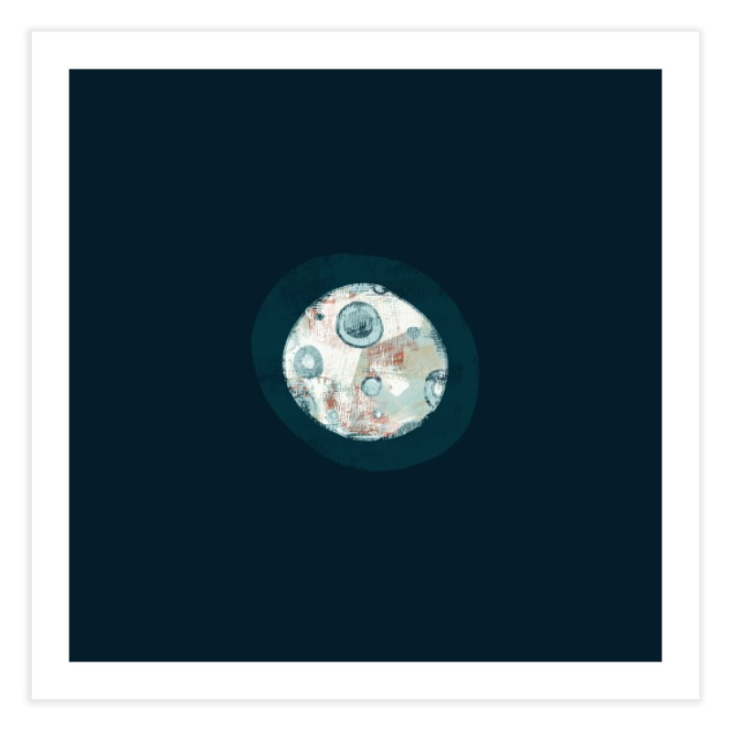 Blue Moon Home Fine Art Print by Eyeball Girl Creative