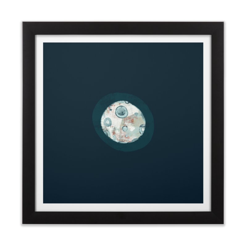 Blue Moon Home Framed Fine Art Print by Eyeball Girl Creative
