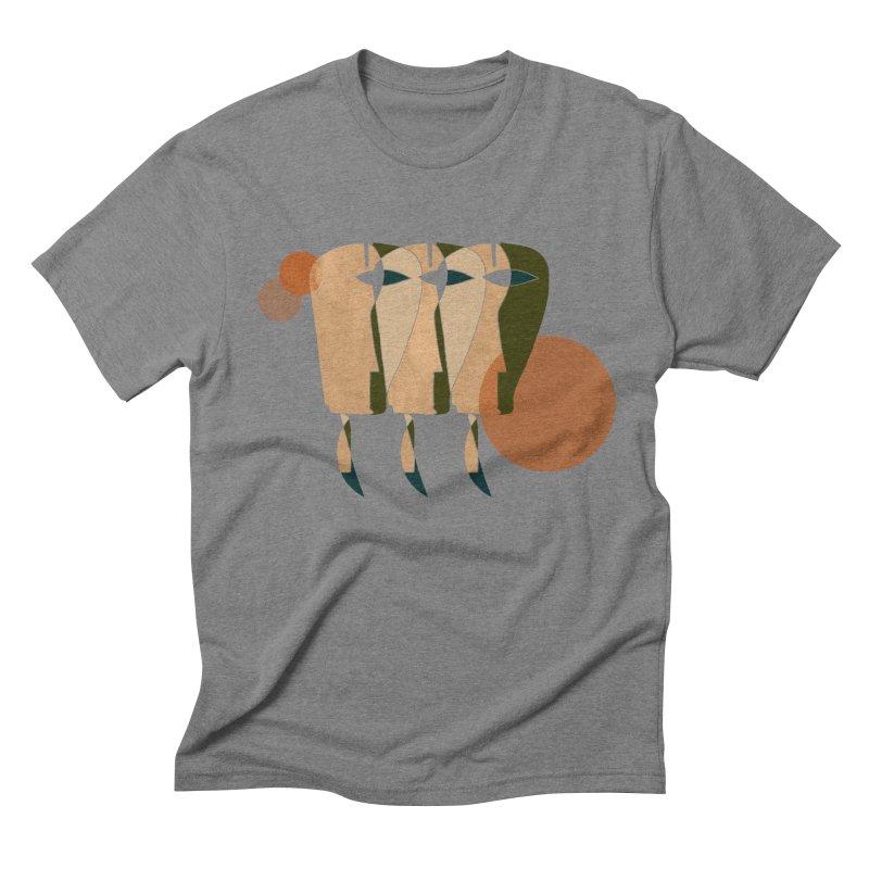 Face the Music Men's Triblend T-Shirt by Eyeball Girl Creative