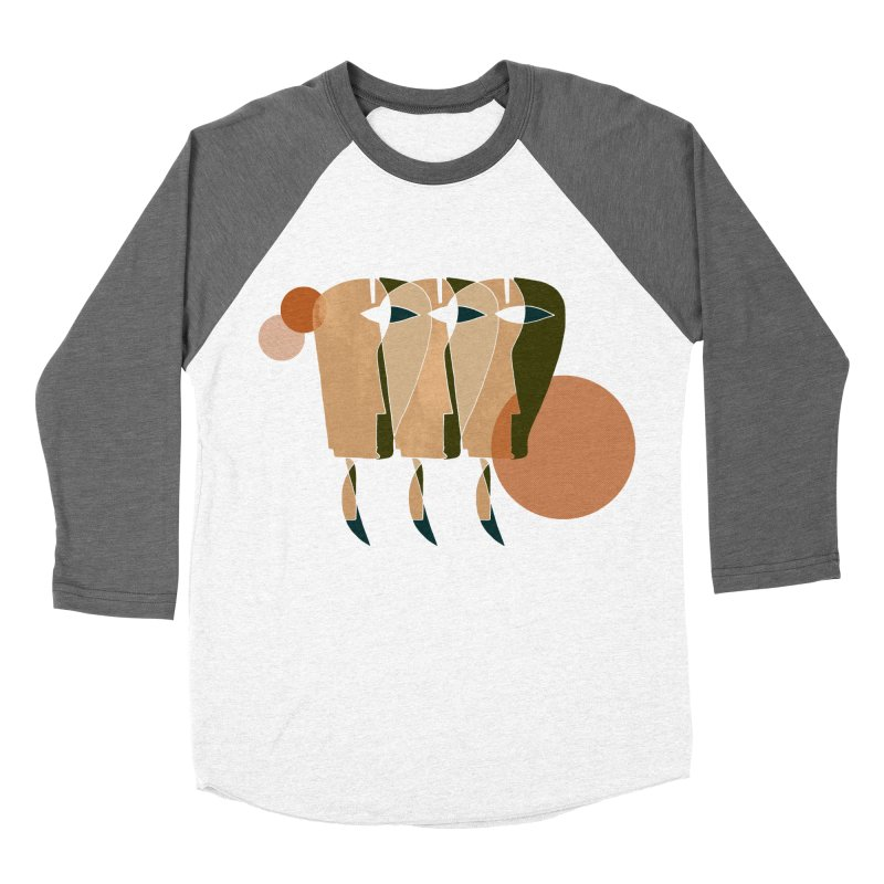 Face the Music Women's Baseball Triblend Longsleeve T-Shirt by Eyeball Girl Creative