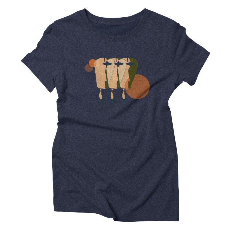 Face the Music Women's Triblend T-Shirt by Eyeball Girl Creative