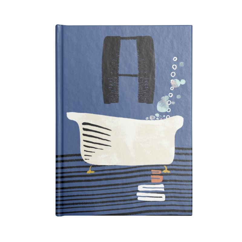 Rub a Dub Dub Accessories Lined Journal Notebook by Eyeball Girl Creative