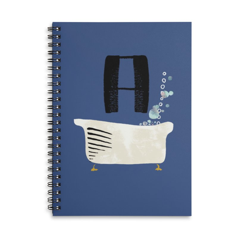 Rub a Dub Dub Accessories Lined Spiral Notebook by Eyeball Girl Creative