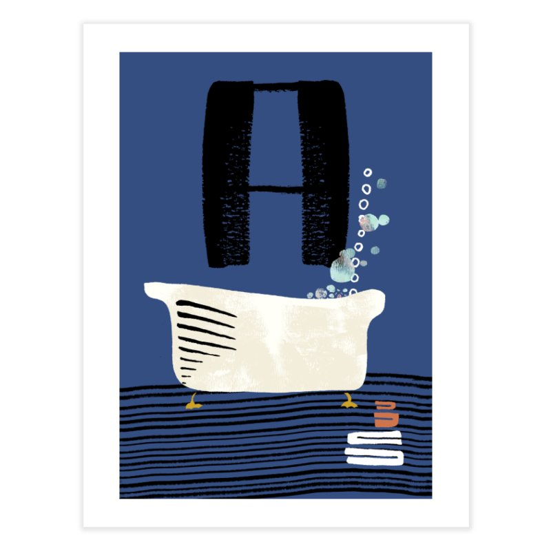 Rub a Dub Dub Home Fine Art Print by Eyeball Girl Creative