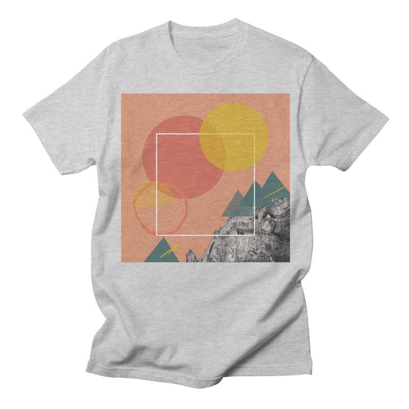 Mountain Range on Fire Men's T-Shirt by Eyeball Girl Creative