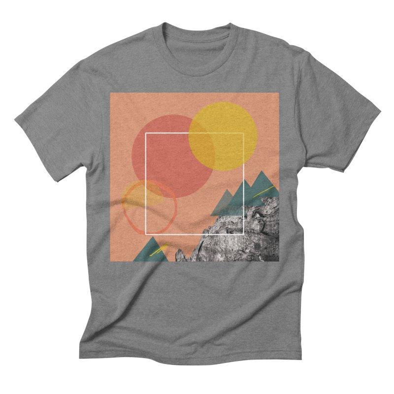 Mountain Range on Fire Men's Triblend T-Shirt by Eyeball Girl Creative
