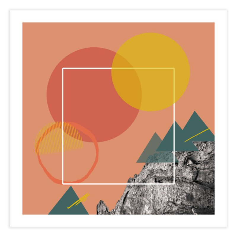 Mountain Range on Fire Home Fine Art Print by Eyeball Girl Creative
