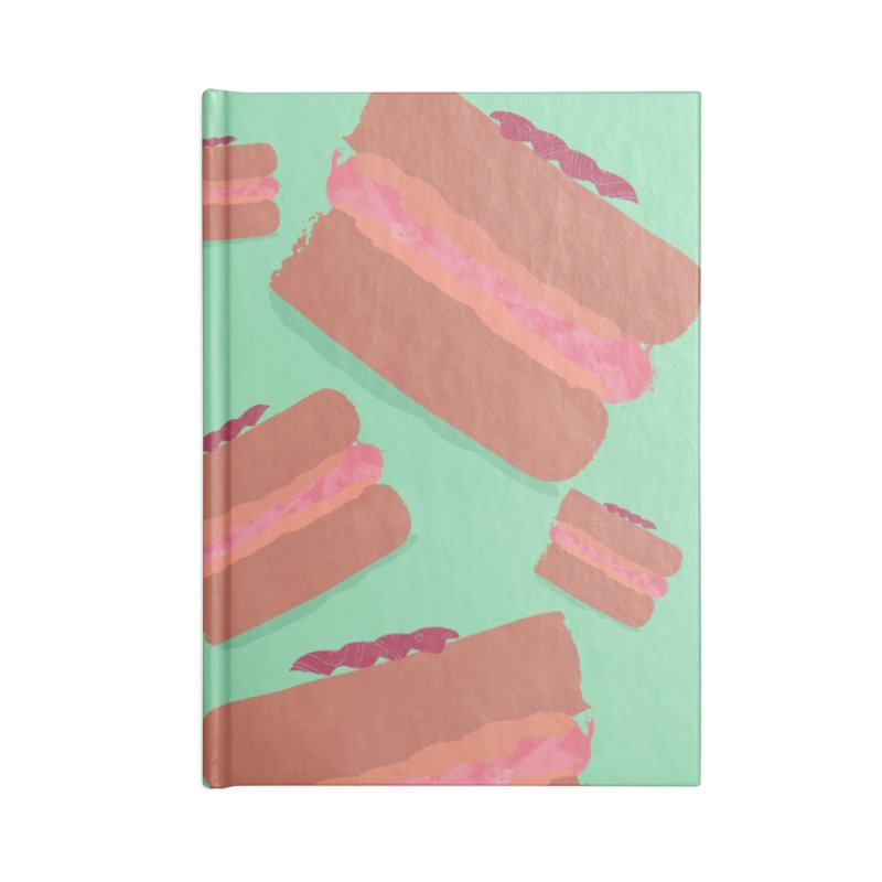 Macaron Accessories Lined Journal Notebook by Eyeball Girl Creative
