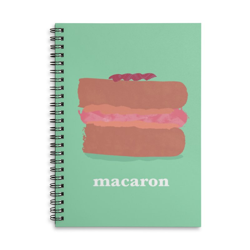 Macaron Accessories Lined Spiral Notebook by Eyeball Girl Creative