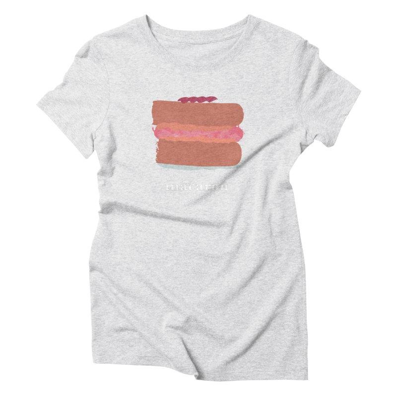 Macaron Women's Triblend T-Shirt by Eyeball Girl Creative