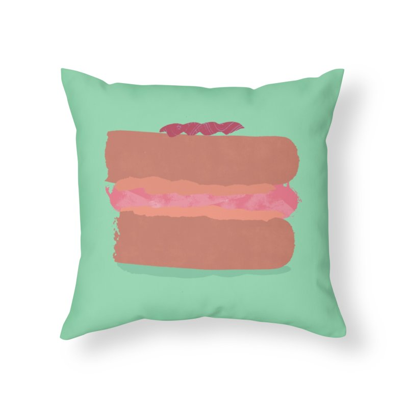 Macaron Home Throw Pillow by Eyeball Girl Creative