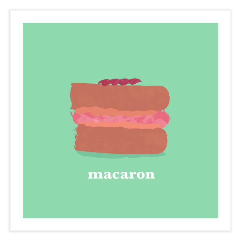 Macaron Home Fine Art Print by Eyeball Girl Creative