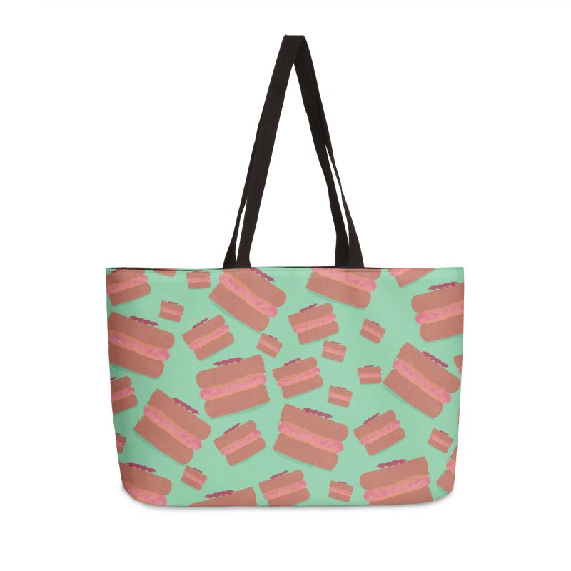 Macaron Accessories Weekender Bag Bag by Eyeball Girl Creative