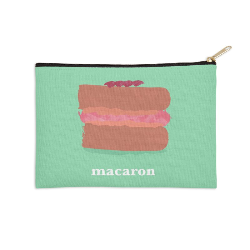 Macaron Accessories Zip Pouch by Eyeball Girl Creative