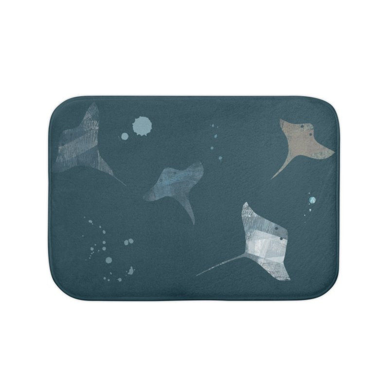Sting//Ray Home Bath Mat by Eyeball Girl Creative