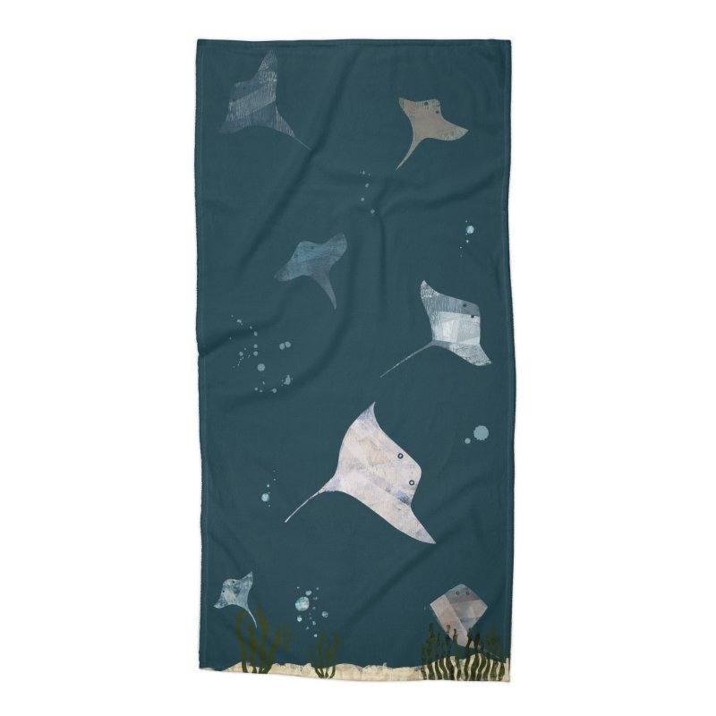 Sting//Ray Accessories Beach Towel by Eyeball Girl Creative