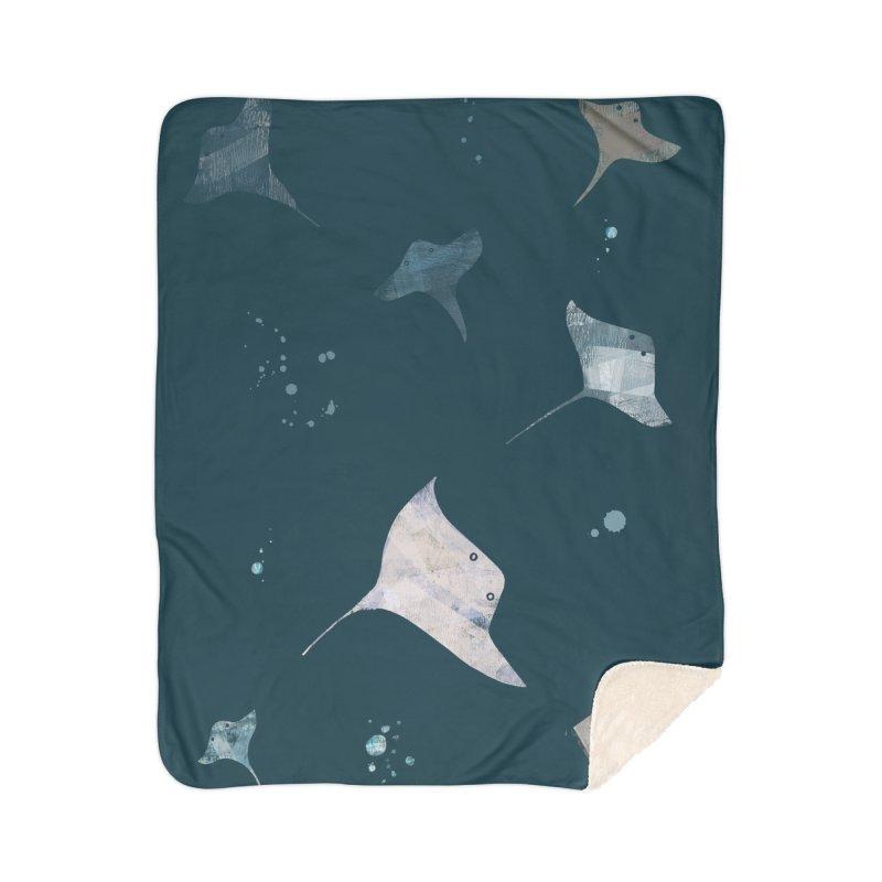 Sting//Ray Home Sherpa Blanket Blanket by Eyeball Girl Creative