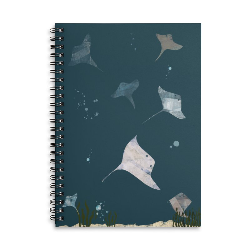 Sting//Ray Accessories Lined Spiral Notebook by Eyeball Girl Creative