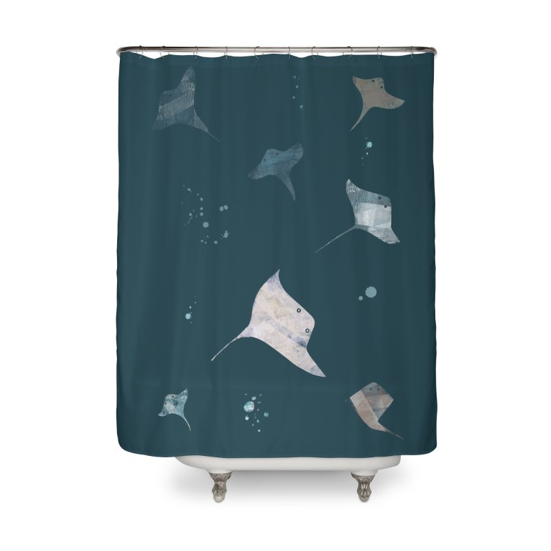 Sting//Ray Home Shower Curtain by Eyeball Girl Creative