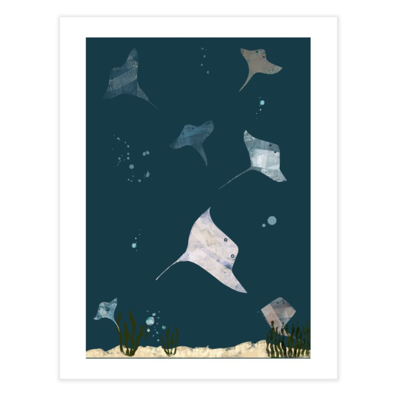 Sting//Ray Home Fine Art Print by Eyeball Girl Creative