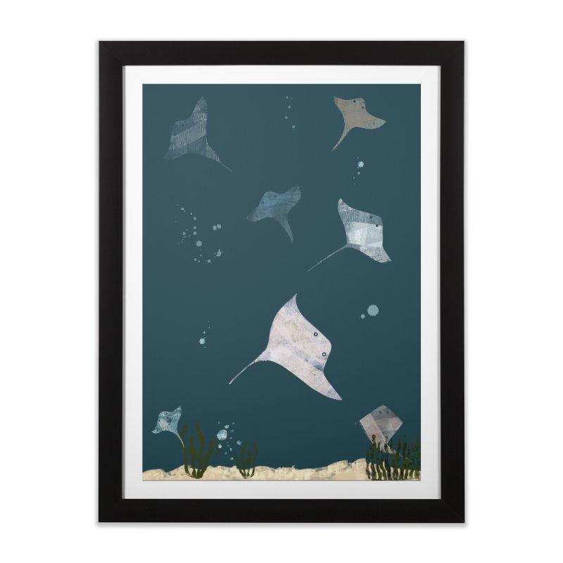 Sting//Ray Home Framed Fine Art Print by Eyeball Girl Creative