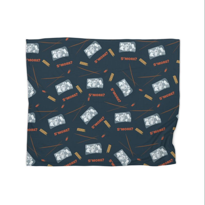 S'more? Home Fleece Blanket Blanket by Eyeball Girl Creative