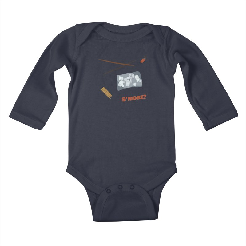 S'more? Kids Baby Longsleeve Bodysuit by Eyeball Girl Creative