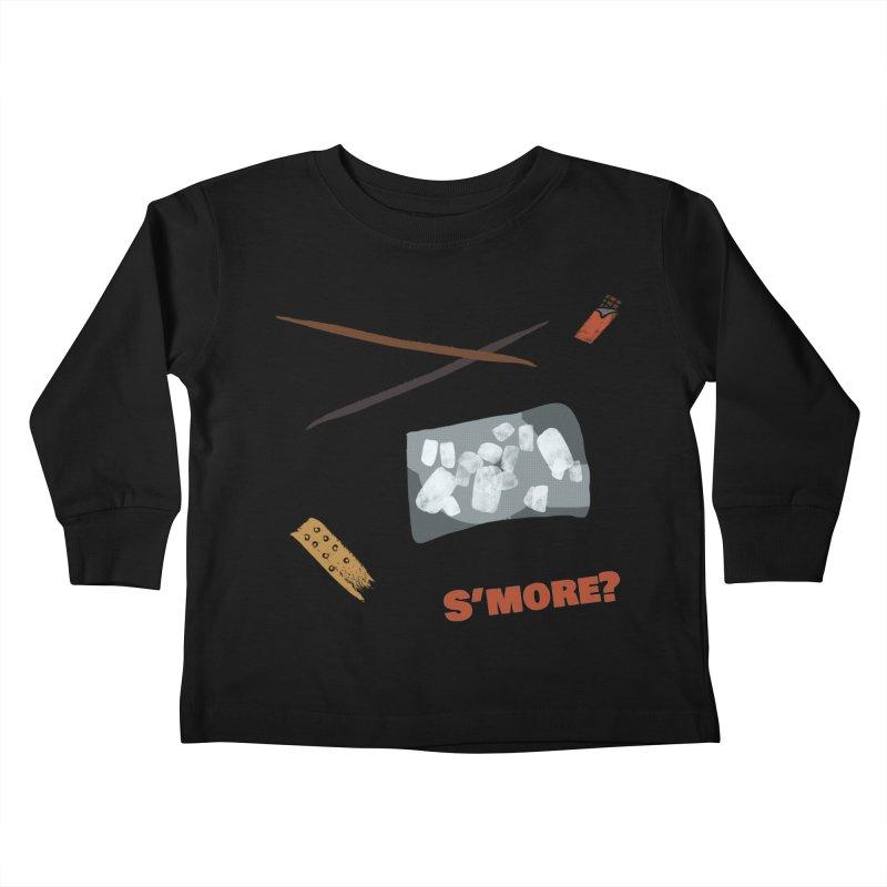 S'more? Kids Toddler Longsleeve T-Shirt by Eyeball Girl Creative