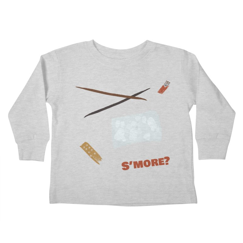 S'more? Kids Toddler Longsleeve T-Shirt by Eyeball Girl Creative
