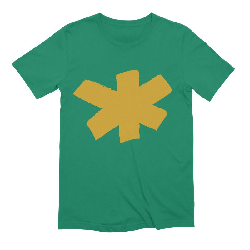 Gold Star Men's Extra Soft T-Shirt by Eyeball Girl Creative