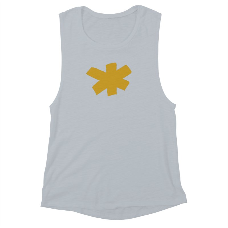 Gold Star Women's Muscle Tank by Eyeball Girl Creative