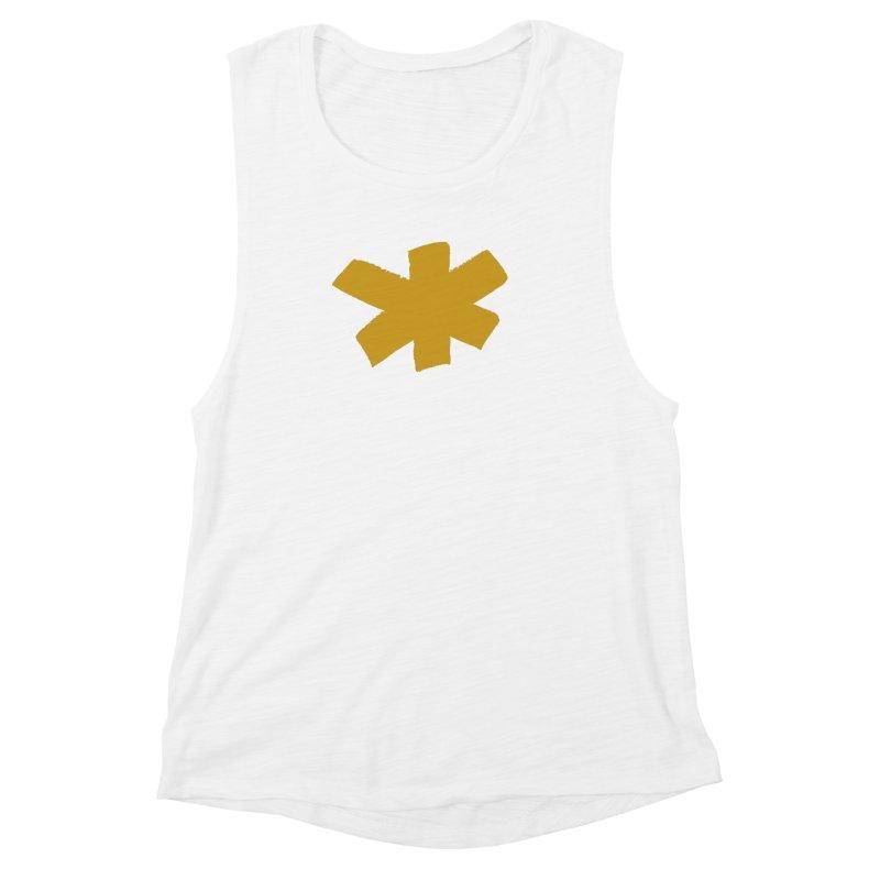 Gold Star Women's Muscle Tank by Eyeball Girl Creative