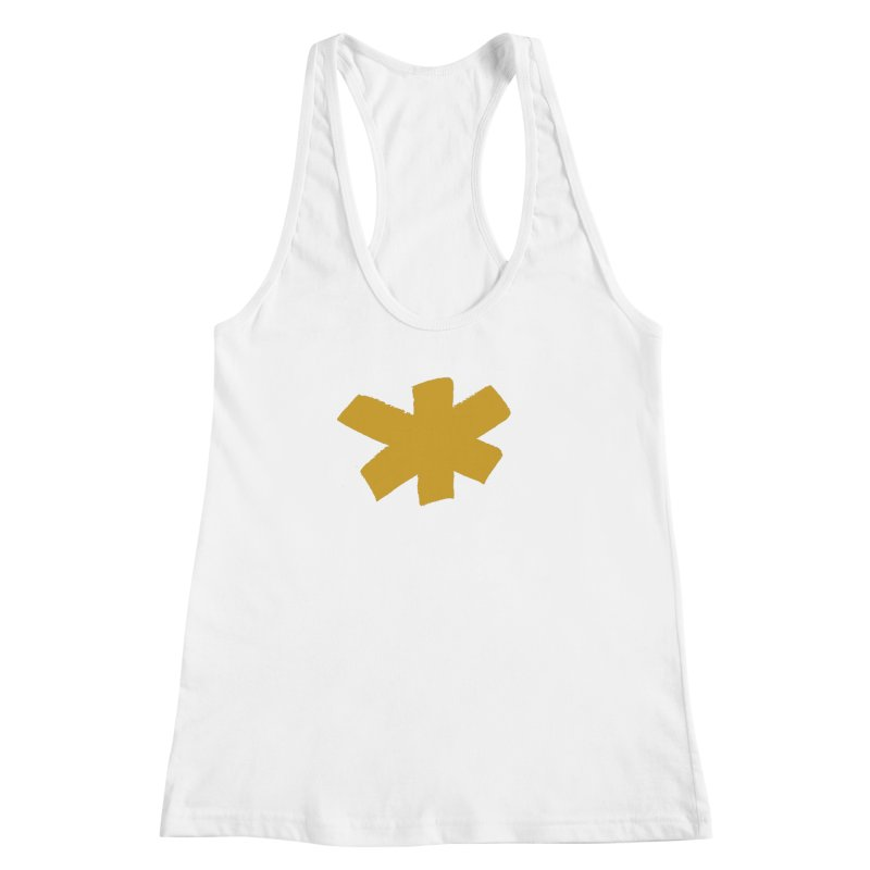 Gold Star Women's Racerback Tank by Eyeball Girl Creative