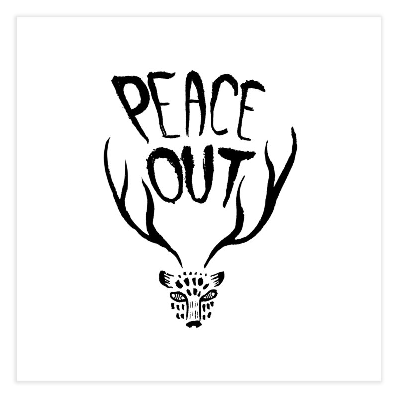 Peace Out Leopard Home Fine Art Print by Threads by @eyedraugh