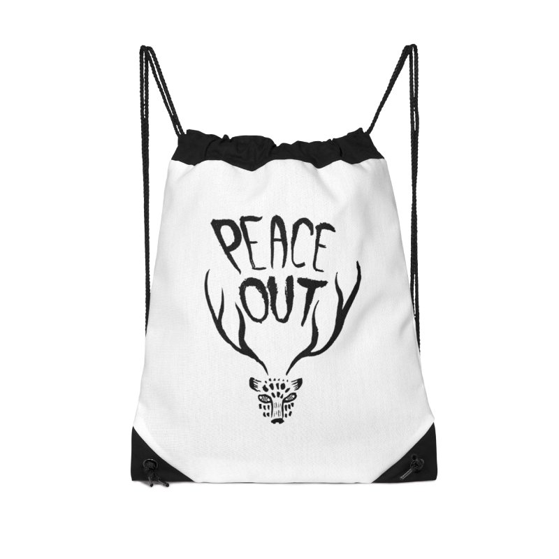 Peace Out Leopard Accessories Bag by Threads by @eyedraugh