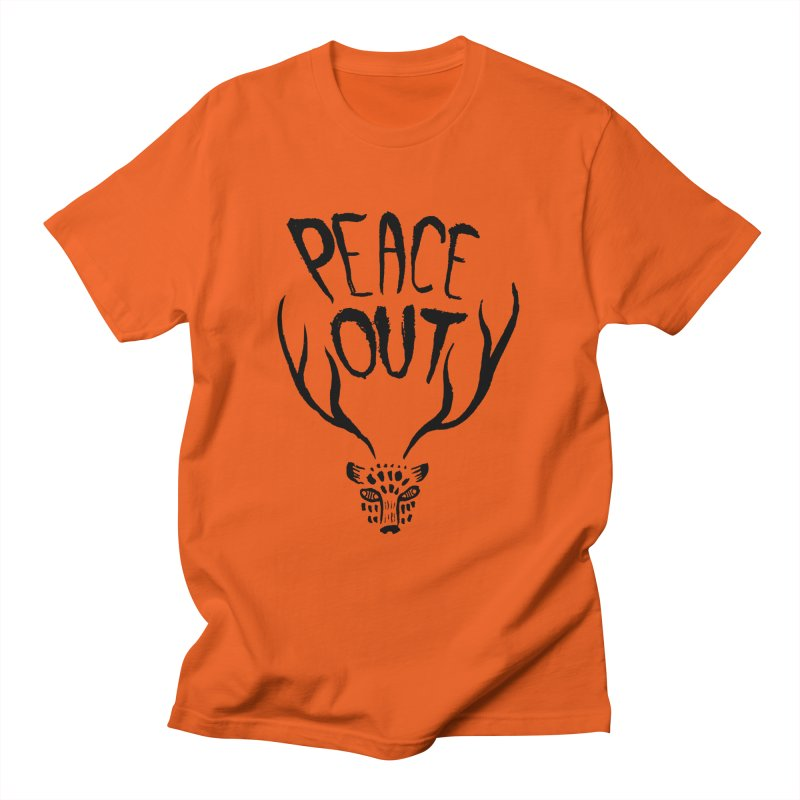 Peace Out Leopard Men's T-Shirt by Threads by @eyedraugh