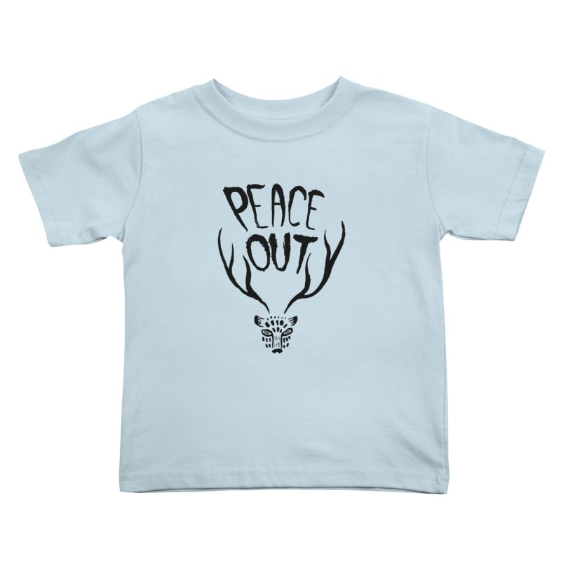 Peace Out Leopard Kids Toddler T-Shirt by Threads by @eyedraugh