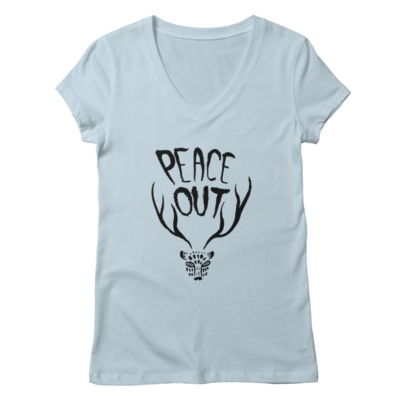 Peace Out Leopard Women's V-Neck by Threads by @eyedraugh