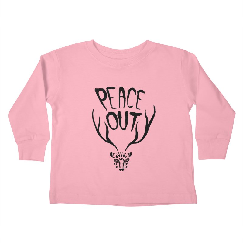 Peace Out Leopard Kids Toddler Longsleeve T-Shirt by Threads by @eyedraugh