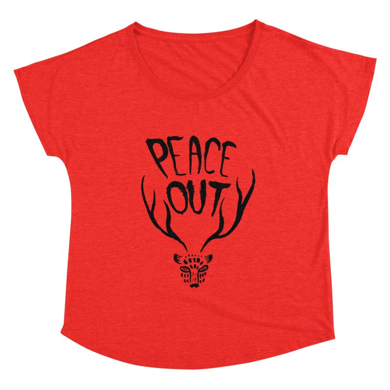 Peace Out Leopard Women's Scoop Neck by Threads by @eyedraugh