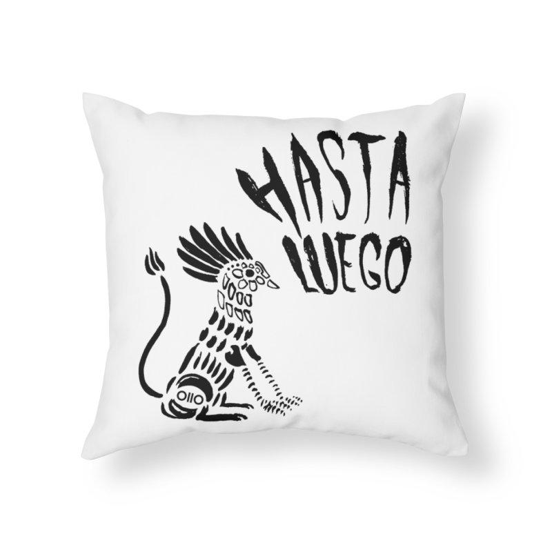 Hasta Luego Alebrije Home Throw Pillow by Threads by @eyedraugh