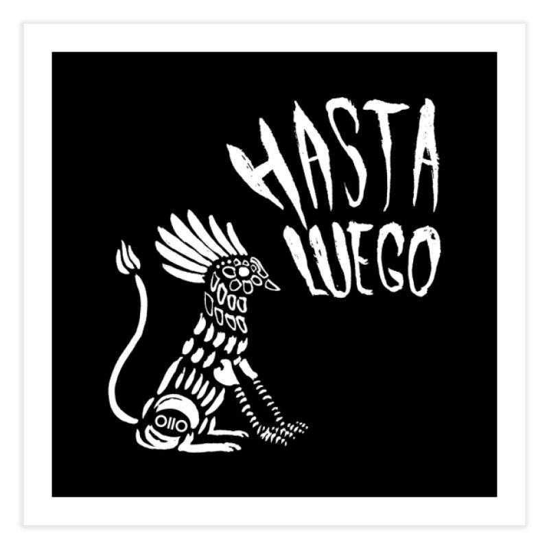Hasta Luego Alebrije (white) Home Fine Art Print by Threads by @eyedraugh